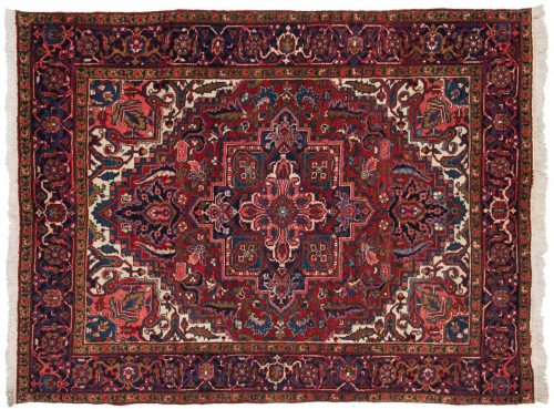 5×6 Persian Heriz Red Oriental Rug 035122