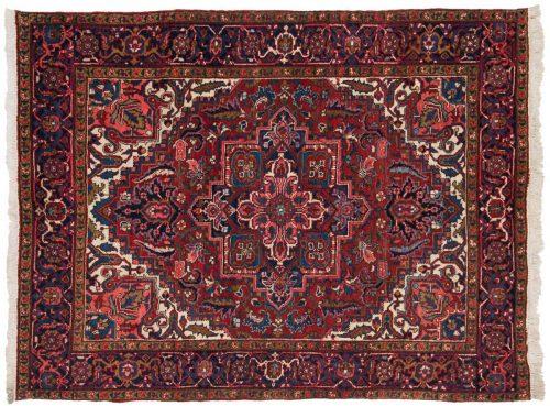 5×6 Persian Heriz Red Oriental Rug 035122