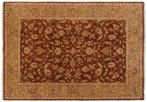 5×7 Kashan Brown Oriental Rug 046910