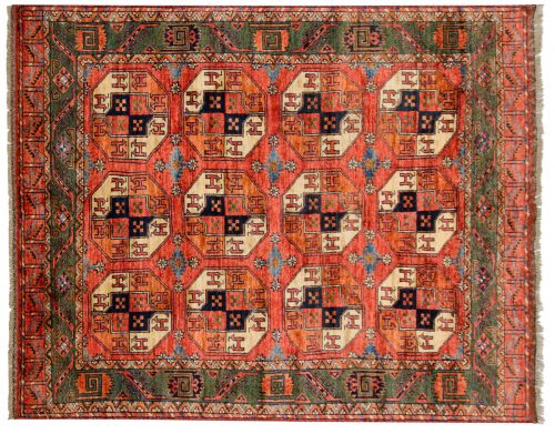 5×7 Ersari Rust Oriental Rug 048878