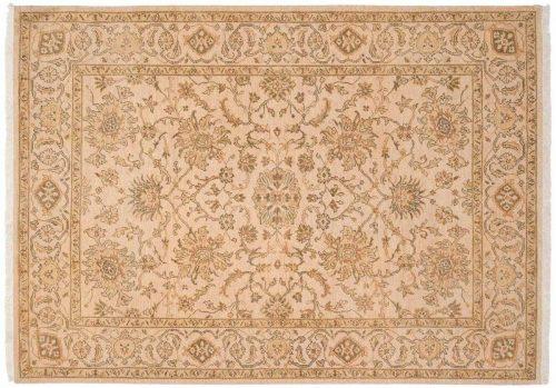 5×7 Kashan Ivory Oriental Rug 047569