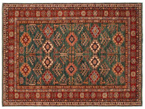 5×7 Kazak Green Oriental Rug 046449