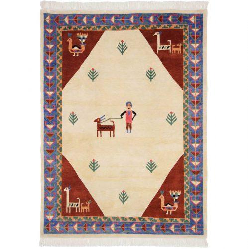 5×7 Nepalese Ivory Oriental Rug 031004