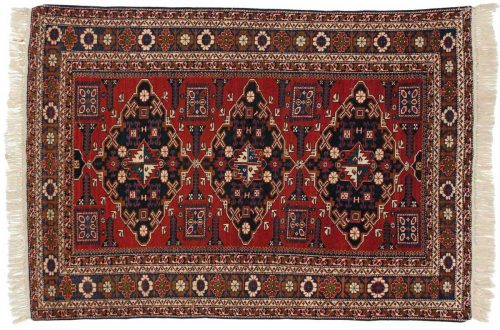 5×7 Persian Ardebil Red Oriental Rug 034866