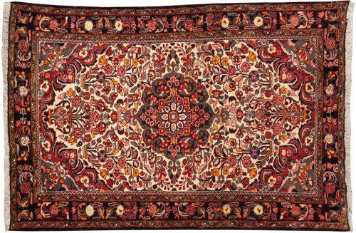5×7 Persian Borchalou Ivory Oriental Rug 022936