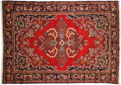 5×7 Persian Borchalou Red Oriental Rug 034832