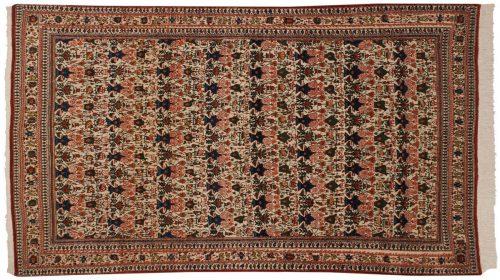 5×7 Persian Ghoum Ivory Oriental Rug 011329