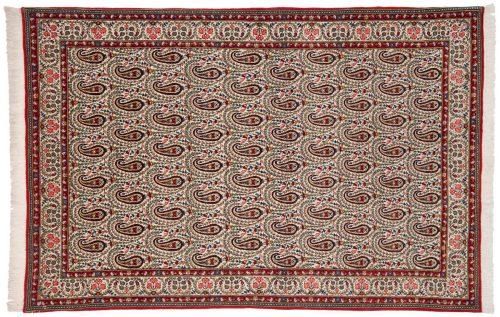 5×7 Persian Ghoum Ivory Oriental Rug 011367