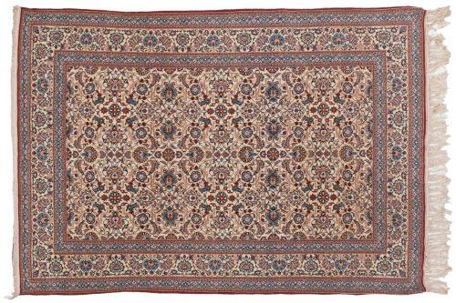 5×7 Persian Nain Ivory Oriental Rug 013594