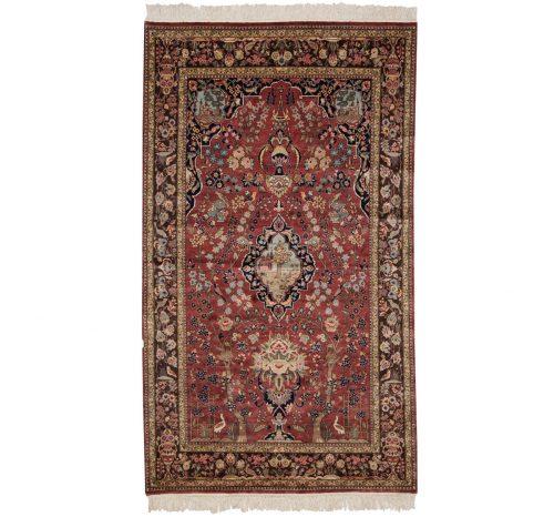 5×7 Persian Rose Oriental Rug 027538