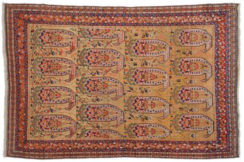 5×7 Persian Shiraz Yellow Oriental Rug 011337