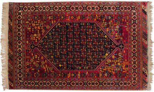 5×8 Caucasian Blue Oriental Rug 037012