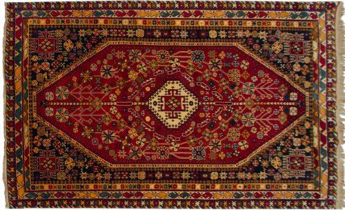 5×8 Caucasian Rust Oriental Rug 037009