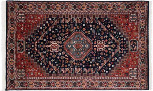 5×8 Ghashghai Blue Oriental Rug 046391