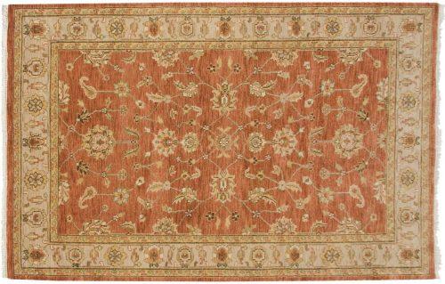 5×8 Kashan Rust Oriental Rug 044189