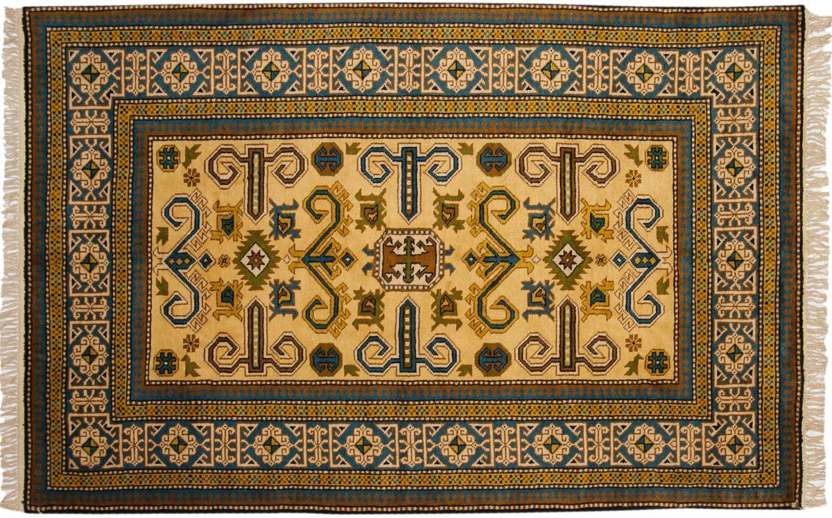 5 8 Kazak Gold Oriental Rug 027281 Carpets By Dilmaghani