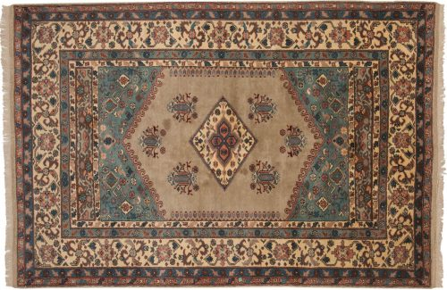 5×8 Kula Green Oriental Rug 033049