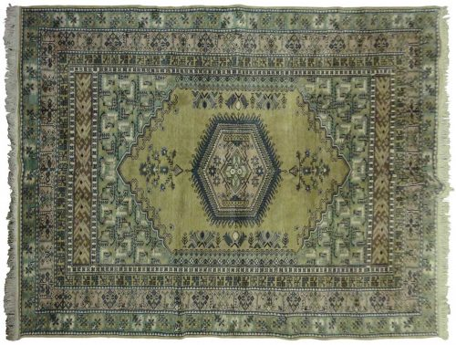 5×8 Kula Green Oriental Rug 033051
