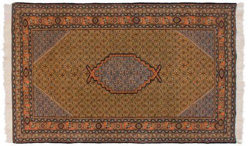 5×8 Persian Ardebil Green Oriental Rug 035479