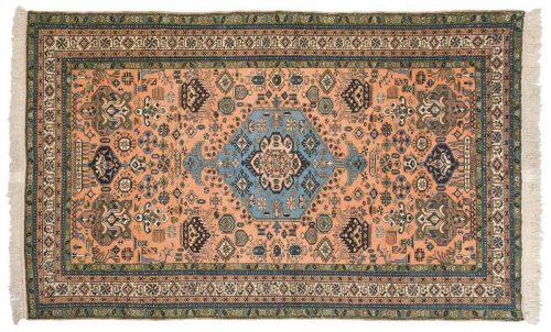 5×8 Persian Ardebil Rust Oriental Rug 035503