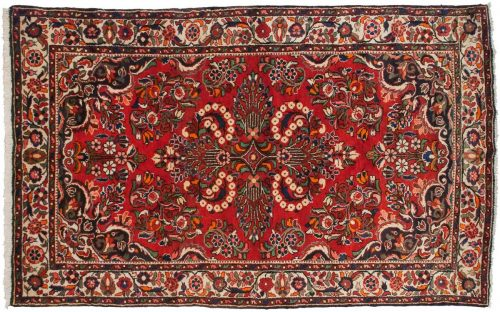 5×8 Persian Borchalou Red Oriental Rug 034831