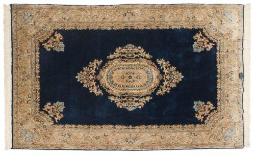 5×8 Persian Kerman Blue Oriental Rug 012307
