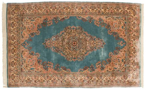 5×8 Persian Kerman Blue Oriental Rug 017339