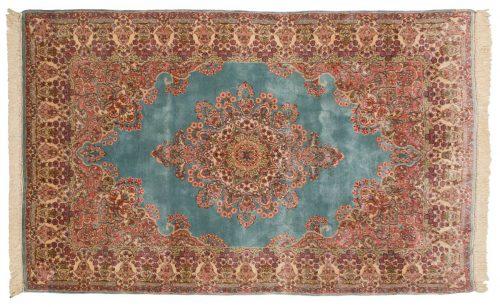 5×8 Persian Kerman Blue Oriental Rug 017507