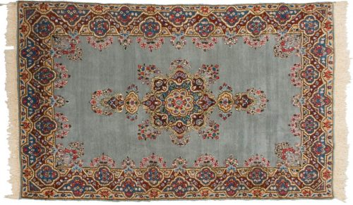 5×8 Persian Kerman Grey Oriental Rug 012374