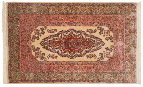 5×8 Persian Kerman Ivory Oriental Rug 017578