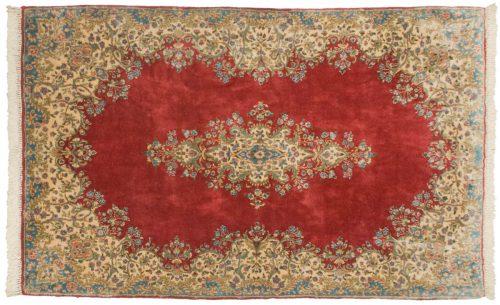 5×8 Persian Kerman Rose Oriental Rug 012273