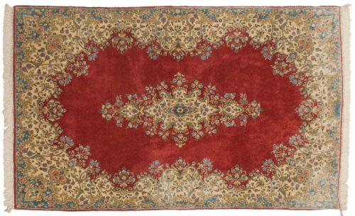 5×8 Persian Kerman Rose Oriental Rug 012274