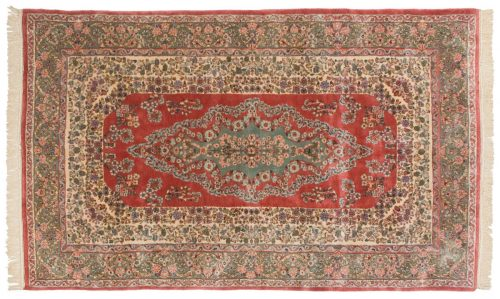 5×8 Persian Kerman Rose Oriental Rug 017498