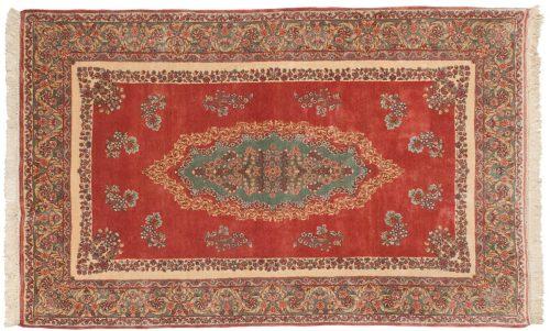 5×8 Persian Kerman Rose Oriental Rug 017516