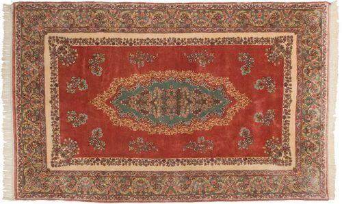 5×8 Persian Kerman Rose Oriental Rug 017517