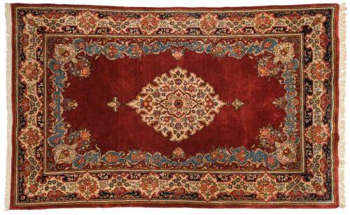 5×8 Persian Sarouk Burgundy Oriental Rug 028458