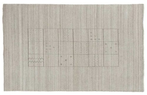 5×8 Gabbeh Silver Oriental Rug 046954