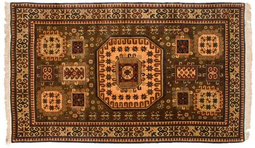 5×9 Kazak Brown Oriental Rug 027497