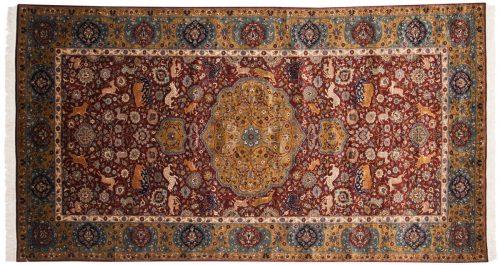 5×9 Persian Burgundy Oriental Rug 021794
