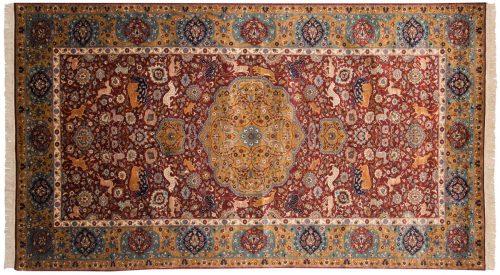 5×9 Persian Burgundy Oriental Rug 022045