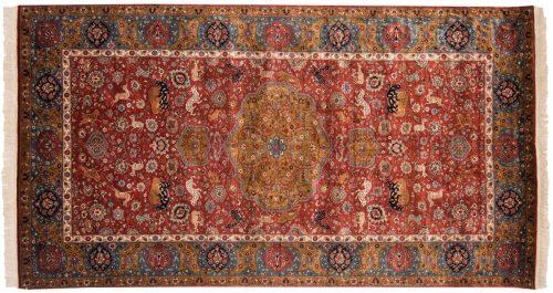 5×9 Persian Red Oriental Rug 021752