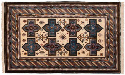6×10 Kazak Ivory Oriental Rug 027378