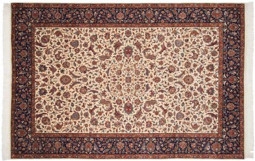6×10 Persian Ivory Oriental Rug 021496