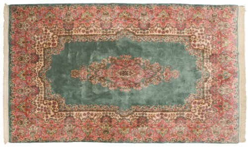 6×10 Persian Kerman Green Oriental Rug 017402