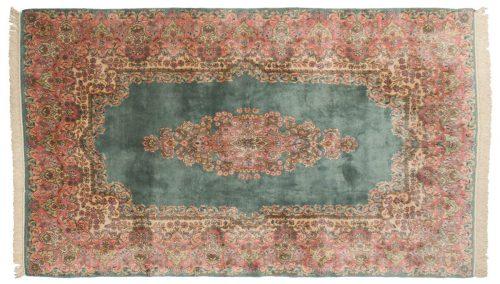 6×10 Persian Kerman Green Oriental Rug 017404