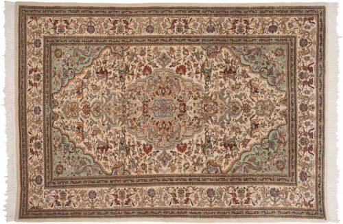 6×10 Persian Tabriz Ivory Oriental Rug 035303