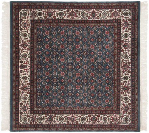 6×6 Bijar Blue Oriental Square Rug 031441
