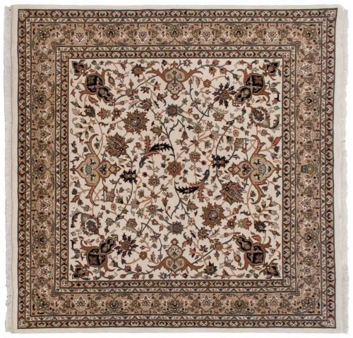 6×6 Isfahan Ivory Oriental Square Rug 042840