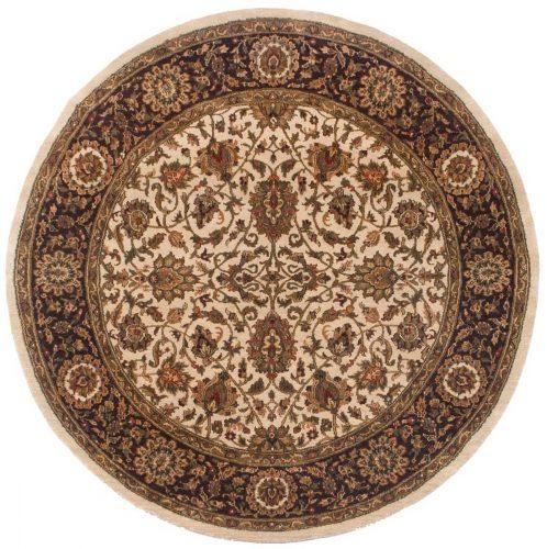6×6 Jaipur Beige Oriental Round Rug 011460
