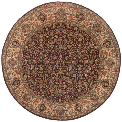 6×6 Jaipur Burgundy Oriental Round Rug 011461